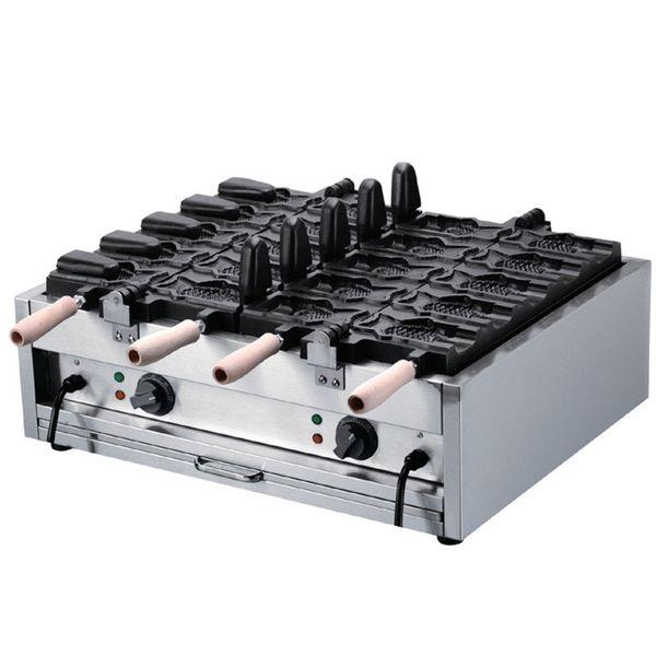 Prodotti all'ingrosso Pesce elettrico Open mouth Waffle maker Ice Cream Cono Taiyaki Waffle prezzo della macchina da forno