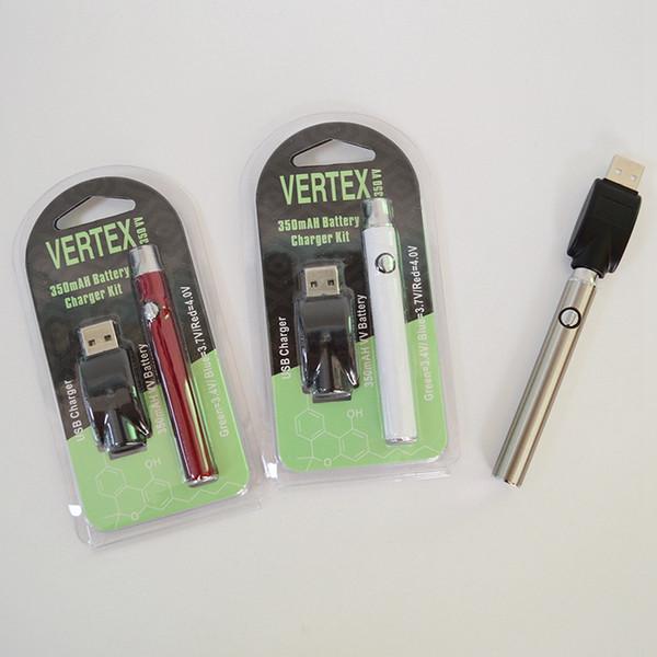 Vertex 510 Battery Vape Pen Preheating Batteries Vaporizer Pens Blister  350mAh Variable Voltage Charger Kit For Thick Oil Cartridge Atomizer  Battery
