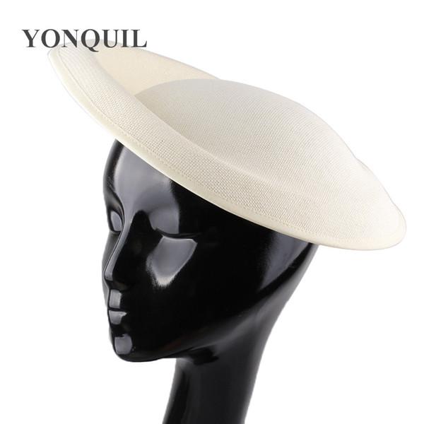 Vintage 30CM big Imitation Sinamay hat Base decorative DIY fascinator hat hair accesories for Ladies wedding party headwear millinery craft