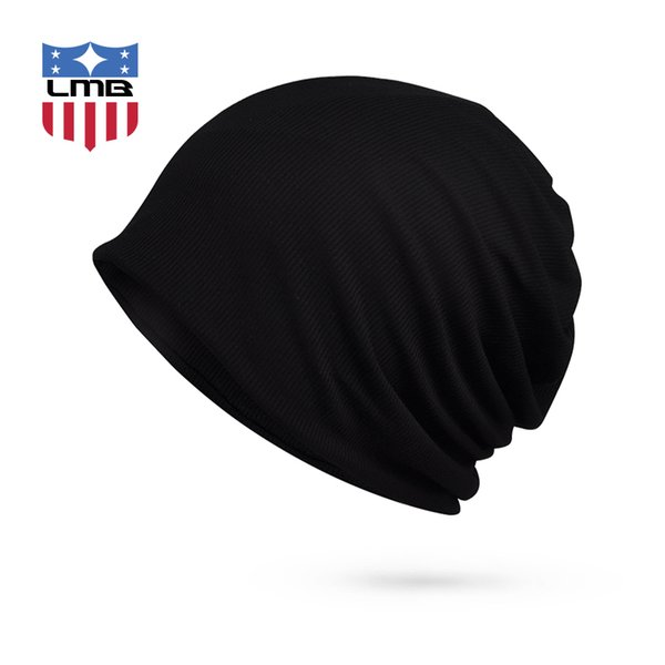 Winter Hats for Men Women Turban Hat Female Striped Knitted Cap Sleeve Winter Beanie Scarf Mask Collar Male