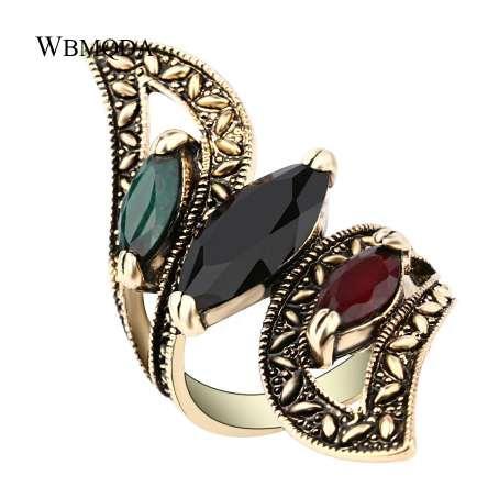 Vintage Boho Big Wings Ring Antik Gold Zwillinge Ringe Für Frauen Fashion Statement Türkei Indischen Schmuck Kostenloser Versand