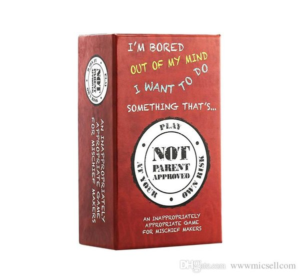 Adult Party Game Not Parent Approved A Card Game for Kids Families and Mischief Makers For Kids