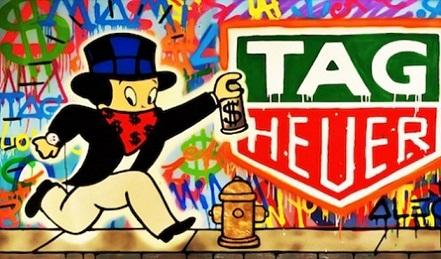 Alec Monopoly Handpainted /HD Print Graffiti Pop Wall Art Oil Painting on Canvas Richie Rich Tag Heuer,Multi Sizes /Frame Options TY221