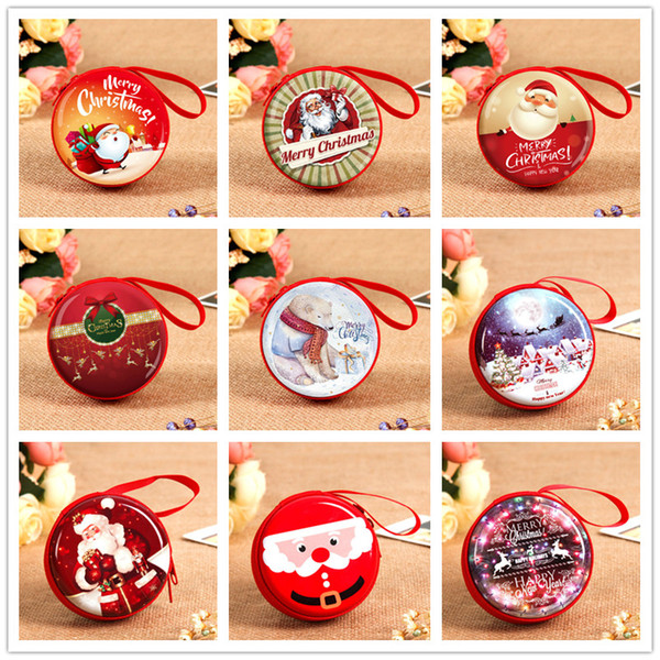Christmas Gift For Kids.Dhl Cartoon Creative Children Toys Christmas Gifts Kids Zero Wallet Santa Claus Window Tree Ball Hanging Piece Ma Tin Iron Christmas Gift Donations