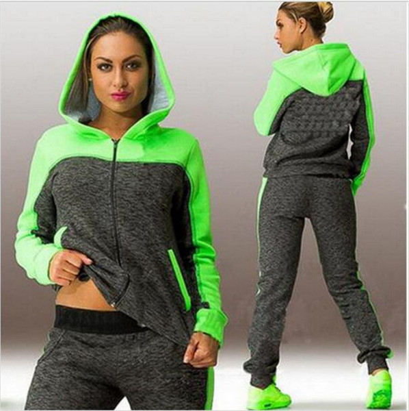 4XL Women Tracksuit Sportswear Hooded Hoodies Sweater Sweatshirt+pant Female Running Jogging Leisure Workout Set Sporting Suit