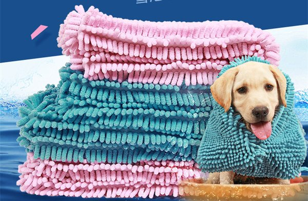 S/M/L Dog Cat Bath Pet Towel Super Absorbent Blanket Towel Quick Dry Extra Large Fiber Chenille