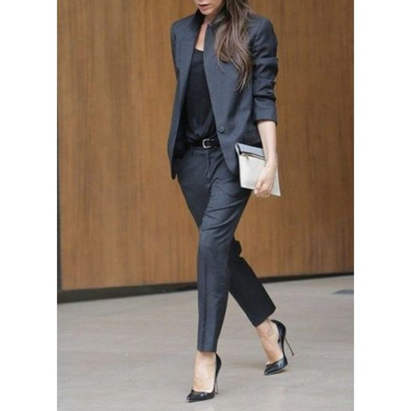 Top Fashion Full Cotton Pantalones Mujer Custom Made Women Ladies Office Business Formal Suits New Arrival Work Wear Suit