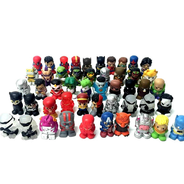 1.5in Promotion Lot10Pcs/Set Ooshies DC Comics/Marvel Ooshie Pencil Toppers Action Figure Kids Toy Doll Gift Xmas Gift Party Decoration Toys