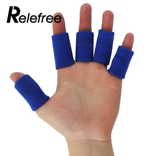 10Pcs Stretchy Finger Sleeves Support Arthritis Guard Portable Volleyball Sport