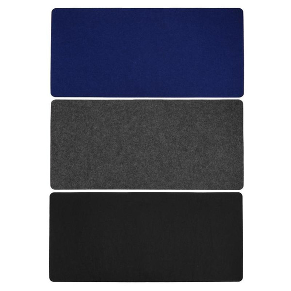70*33cm Mouse Pads Simple Warm Office Table Computer Desk Keyboard Game Mouse Mat Wool Felt Pad Black Grey Blue