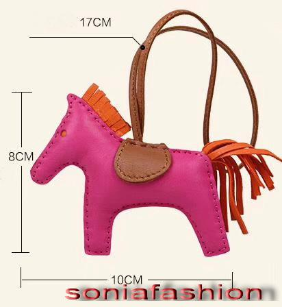New hot fashion woman bags decoration designer genuine leather hand made horse woman bags charms free shipping