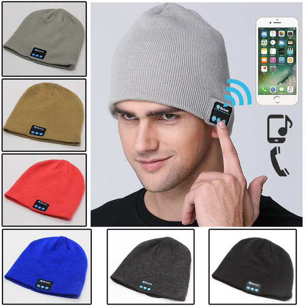 best selling Free DHL New Soft Warm Beanie Gorro Hat Wireless Bluetooth Smart Cap Headset Headphone Speaker Mic Bluetooth Hat Men Women Sports Hat