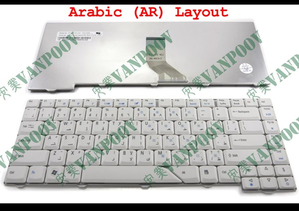 New Laptop keyboard for Acer Aspire 4710 4220 4320 4520 4720 5300 5720 5920 Grey White Arabic AR - MP-07A23A0-442 NSK-H3V0A