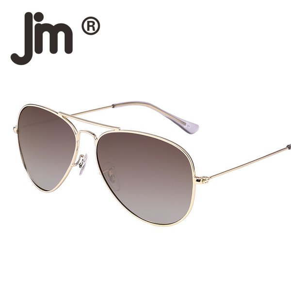 JM Retro Mirror Aviation Polarized Flash Tinted Lens Driving Sunglasses Women Men UV400 Metal Frame Vintage Sun Glasses Oculos