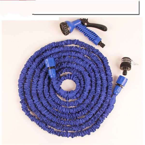 High Pressure Car Wash Blue Green Latex 7.5m25ft Telescopic Expanding Flexible Hose Spray Nozzle Bathroom Faucets Accessories 29bm6 bb