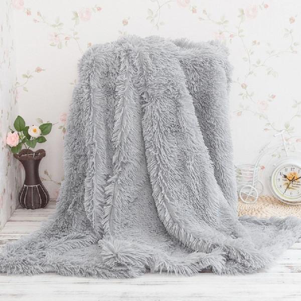 Super Soft Long Shaggy Bedspread Fuzzy Fur Faux Elegant Cozy With Fluffy Sherpa Throw Sofa Blanket Bed Sofa Blanket Gift