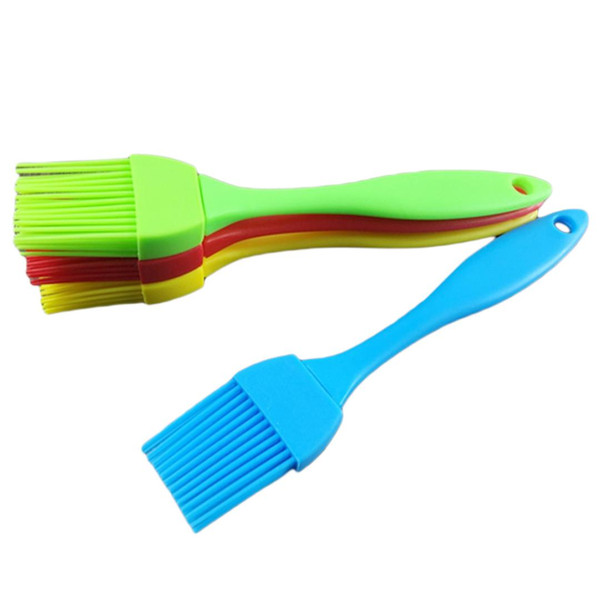 Multi Color Silicone Basting Pastry Brush Oil Brushes For Cake Bread Butter Baking Tools Safety BBQ Brush
