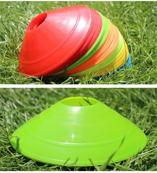 10 x 19cm Cones Marker Discs Soccer Football Training Entertainment Equipment