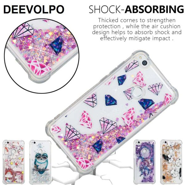 Cassa del telefono per Fundas Huawei P10 P20 Lite P8 Lite 2017 Pony Gufo Torre del cane Anti-Knock Air Cuscino Design Back Cover Bag DP03G