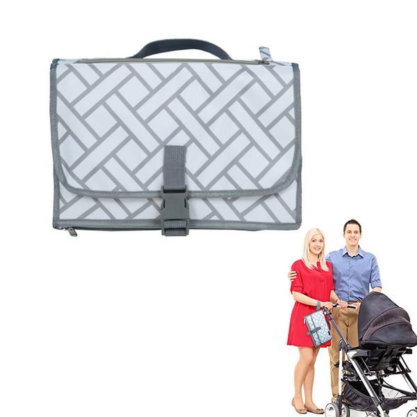Portátil bebé pañal cambiador almohadilla cubierta estera colchón lavable impermeable hojas de viaje @ zjf