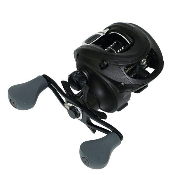 WOEN Nuevo GBF200 Metal taza de alambre tallado Gotas de agua Rueda magnética Mango de pistola Carrete de pesca Relación de alta velocidad 6.2: 1