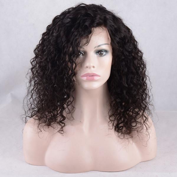 Парики из натуральных волос с кружевной отделкой и предварительно выдернутыми волосками Глубокая волна Парики из натуральных волос для чернокожих женщин со странными вьющимися волосами