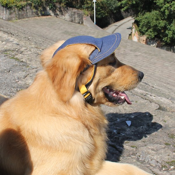 Cool Denim Dog Hat Pet Cat Baseball Cap Casual Outdoor Pet Hat For Small Medium Large Dogs Travel Hiking Pet DHL free shipping