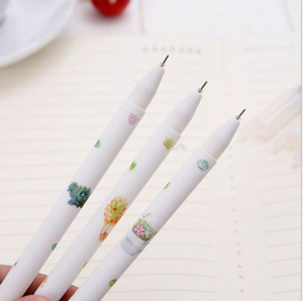 Best selling gel pen wholesale 120pcs\Lot free shipping Green plant fleshy neutral pen students gifts 152