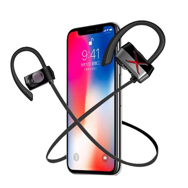 Waterproof Wireless Bluetooth Earphones Sport Dynamic Ear Hook In Ear Earbuds Neckband Headset with Mic For Smart Mobile Phone
