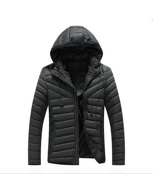 2018 New Fashion Warm Coat Hooded Winter Jacket Mens Parka Solid Thick Winter Jacket Cotton Jacket High Quality Thermal Coat
