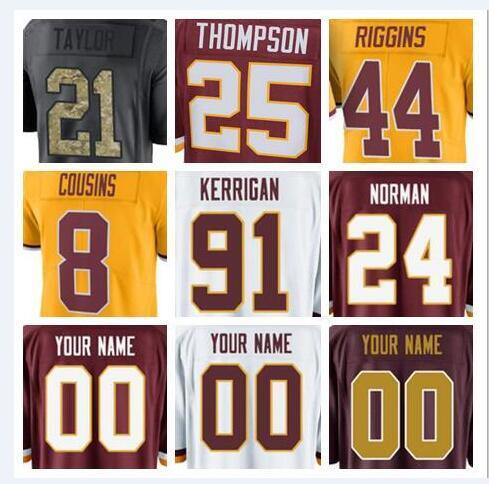 new style ca4db 9d9e0 2019 2018 Washington Charley Taylor Redskins Jersey Custom Ryan Kerrigan  Sean Taylor Authentic Sports Youth Kids American Football Jerseys 4xl From  ...