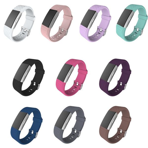Bracelete Wearable da correia da substituição colorida do silicone para o homem e a mulher Bracelete esperta original da carga 2 do Fitbit do punho