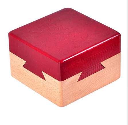 Alta Qualidade De Madeira Caixa Mágica Puzzle jogo Luban Lock IQ Brinquedos Para Crianças Adulto Brinquedos Educativos Jogo de Quebra-cabeças