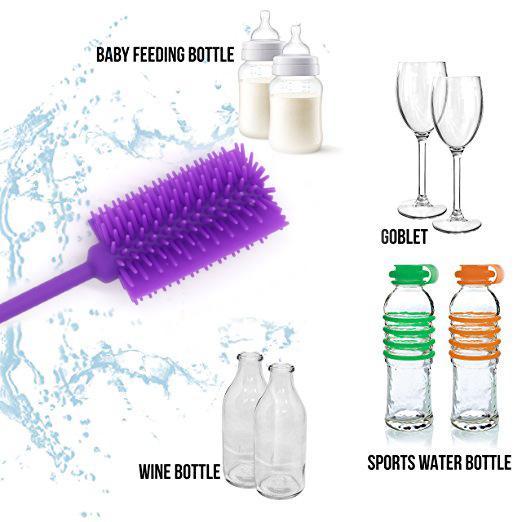 Narrow Bottle Brush Bottle Cleaning Brush Cleaner For Washing Glass Baby feeding Bottles Narrow Neck Water Bottles with Long Non-slip Handle
