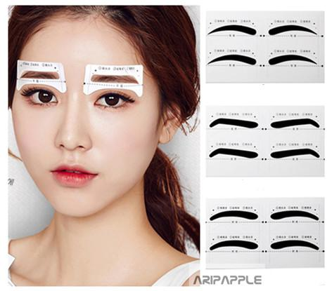 10Pairs Professional Reusable Eyebrow Stencil Eye Brow DIY Drawing Guide Styling Shaping Grooming Card Easy Makeup Beauty Tool
