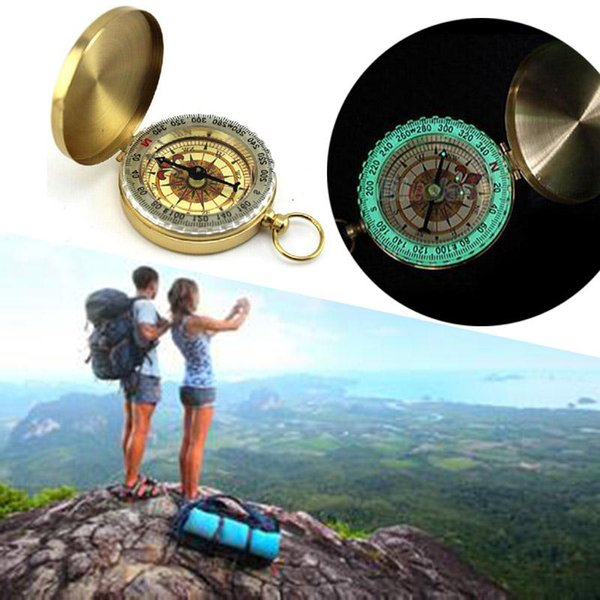 Pocket Watch Style Outdoor Camping Hiking Navigation Noctilucence Compass