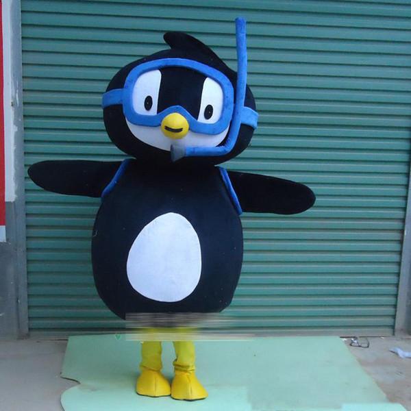 2018 Hot sale Diver Penguin Mascot Costume Adorável traje da mascote porco