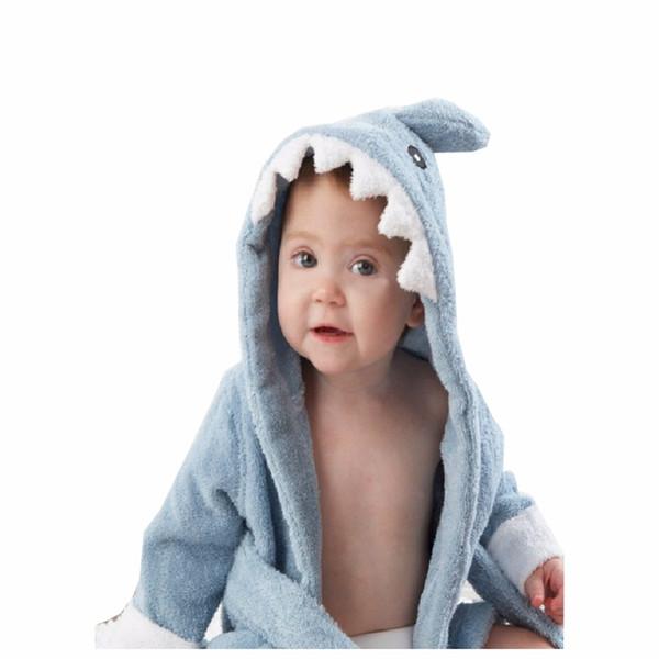 100% Cuttons Baby Hooded Animal Baby Bathrobe Cartoon Towel Character Kids  Bath Robe 368eae78c