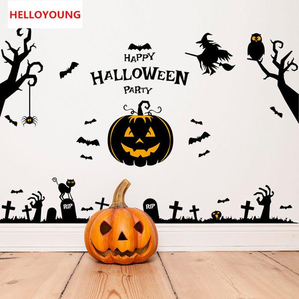 Creative Halloween maison hantée assistant Stickers muraux décoratifs Accueil Fonds d'écran étanche