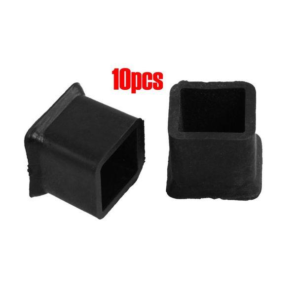 FLST New 10Pcs Furniture Chair Table Leg Rubber Foot Covers Protectors 20mm x 20mm
