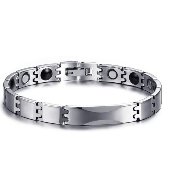 ZHF Jewelry Tungsten Carbide Bracelets Bangles Energy Magnetic Therapy Germanium Health Care free Box Drop Shipping