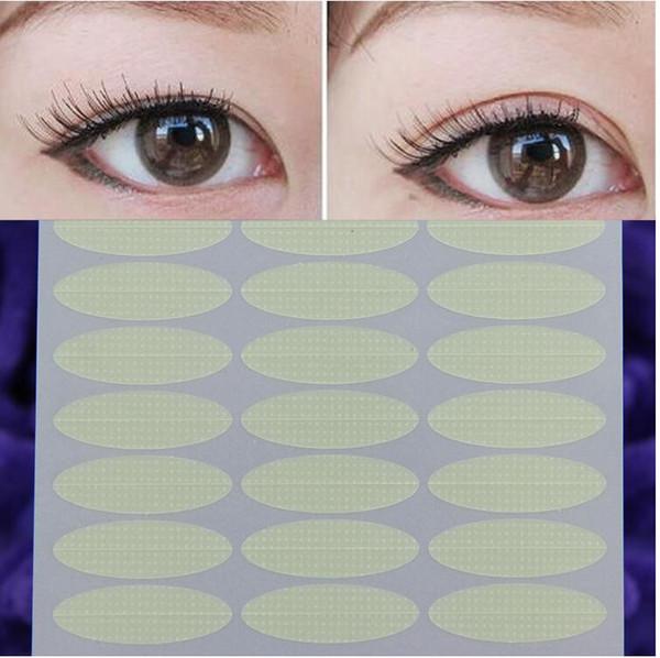 Dropshipping Kadınlar su geçirmez nefes görünmez çift göz kapağı cilt rengi stokta güzel gözler bantlar yansıtıcı çıkartmalar