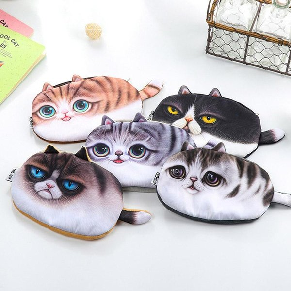 Creative Cute Kawaii Plush Pencil Case Lovely Cartoon Cat Pencil Bag For Kids Gift Korean Stationery Student