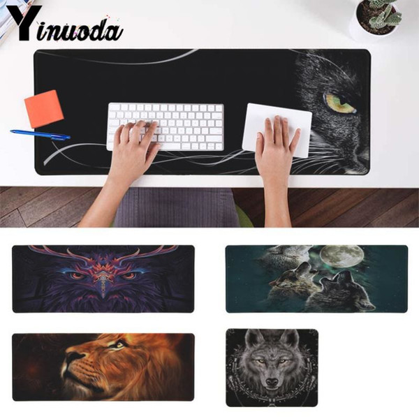 Yinuoda Cool New Cool Animal Wolf Owl Cat Lion Durable Rubber Mouse Mat Pad Size for 18x22cm 20x25cm 25x29cm 30x90cm 40x90cm