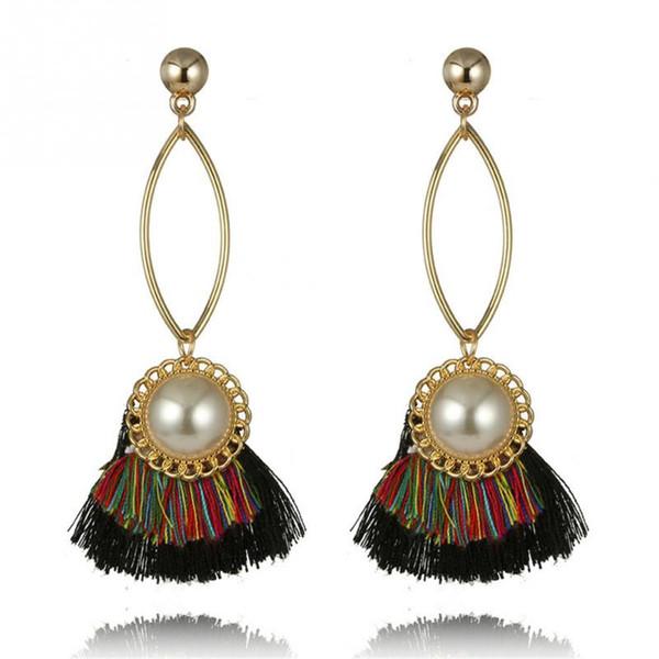 Women Fashion Stylish Elegant Long Tassel Earrings Gift Wedding Jewerly