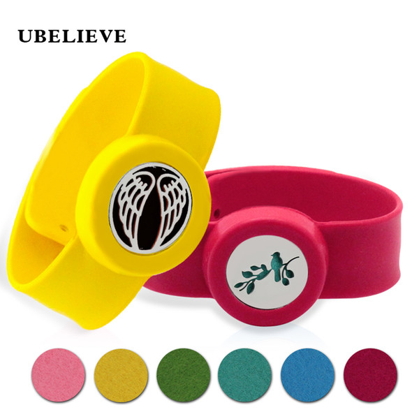 316LStainless Steel Safety Silicone Wristbands Wings Design Adjustable Mosquito Repellent Bangle Essential Oil Diffuser Bracelet