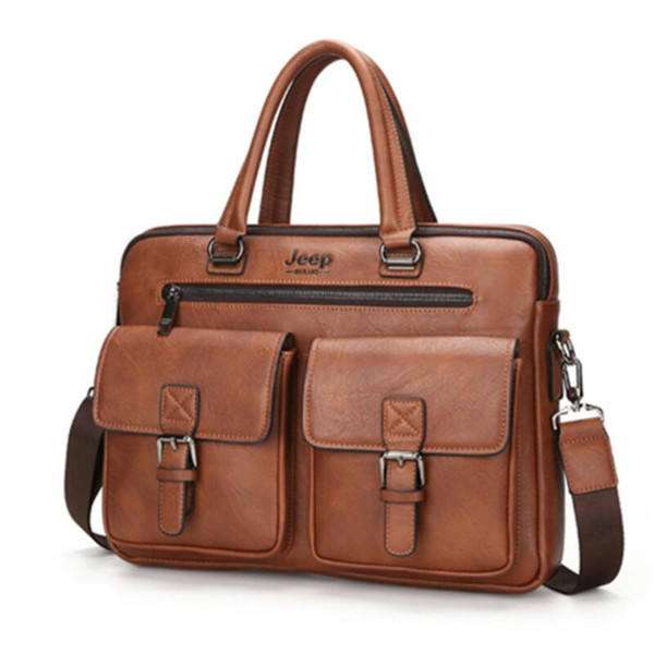 Famous Brand New Design Men's Briefcase Satchel Bags For Men Business Fashion Messenger Bag 14' Laptop Bag Free Shipping