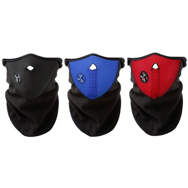 Bisiklet Motosiklet Yarım Yüz Maskesi Kapak Polar Unisex Kayak Kar Bisiklet Sıcak Kış Boyun Guard Eşarp Sıcak Koruma Maske
