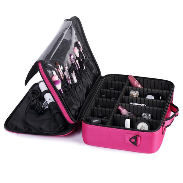 Brand Suitcases Multi-storey Large Professional Cosmetic Case Nail Pattern Semi-permanent Tool Box Storage Makeup Bag