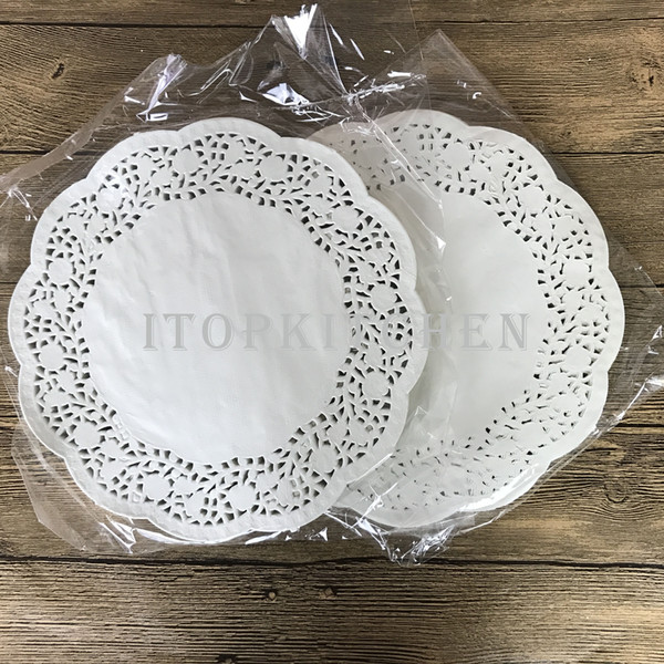 5 packets(140pcs*5) 4.5inch 114mm White Round Lace Paper Doilies / Doyleys,Vintage Coasters Placemat Craft Wedding Christmas Table Decoratio